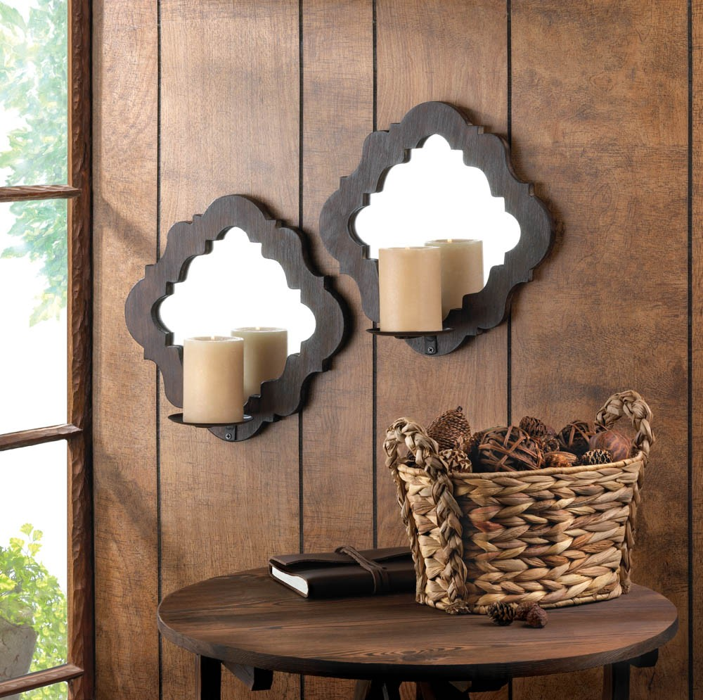 mirrored lamp holder candle how best decorate sconces wall a to sconce indoor tin of