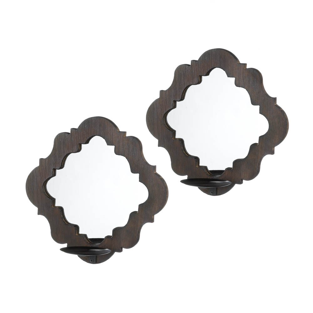 Mirrored Wall Sconce damask mirrored wall sconces - upc 849179025502