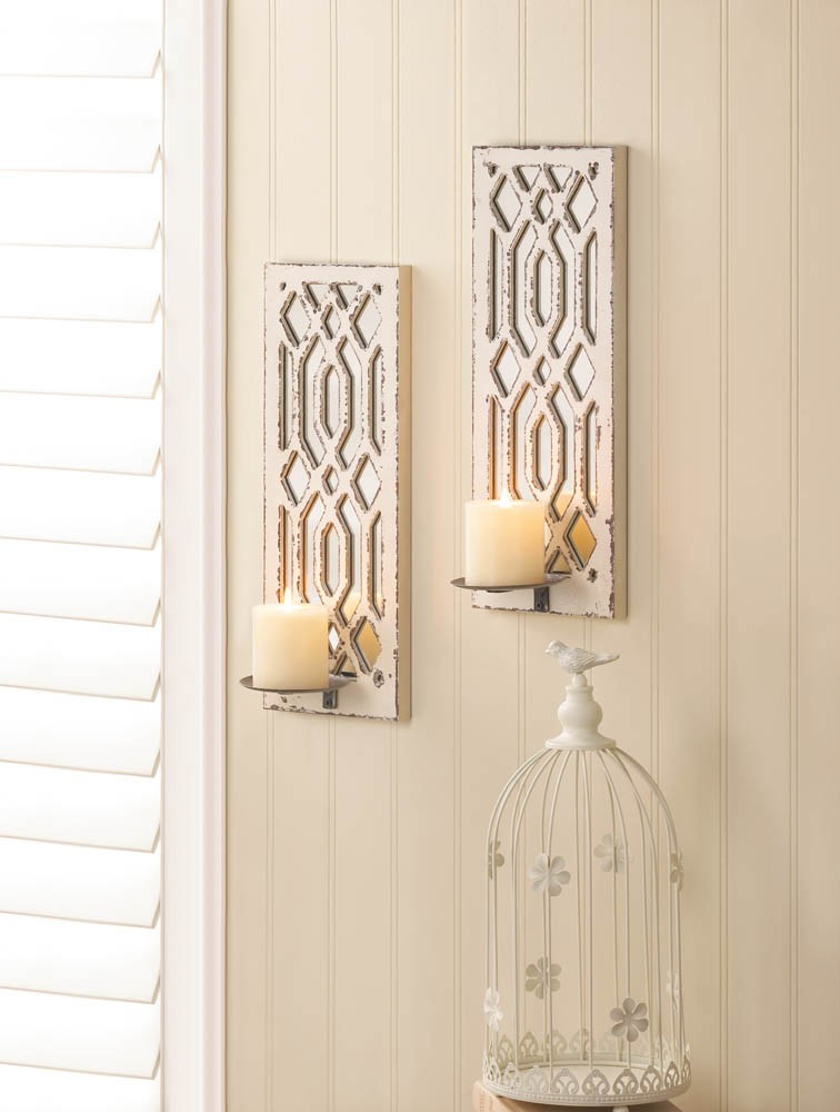 Deco Mirror Wall Sconce Set Upc 849179025519