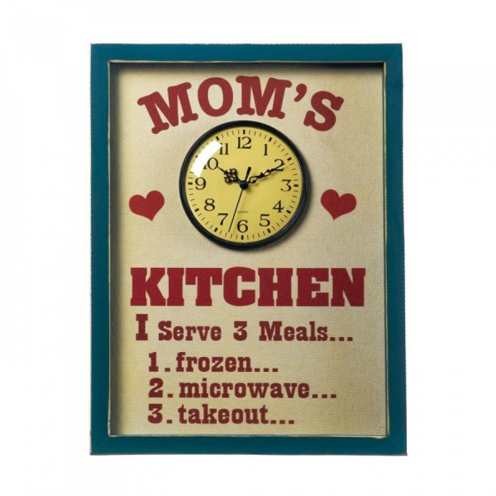 Mommas Kitchen: Mom's Kitchen Clock Sign