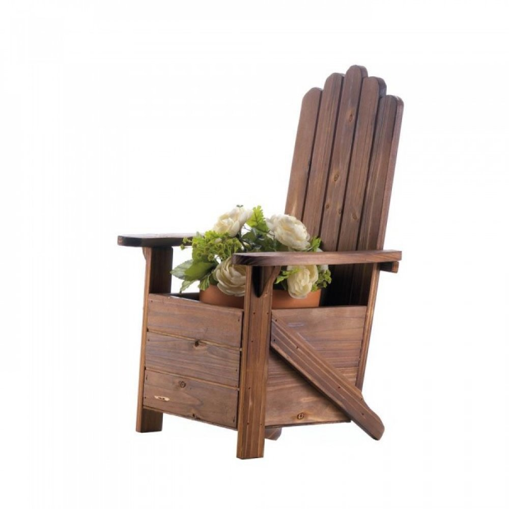 Planters Chairs: Wooden Adirondack Chair Planter