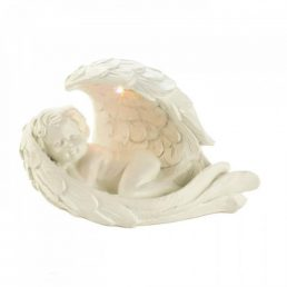 Solar Peaceful Cherub Figurine