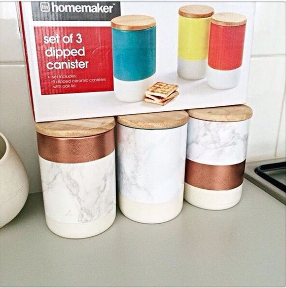 DIY Marble Canisters