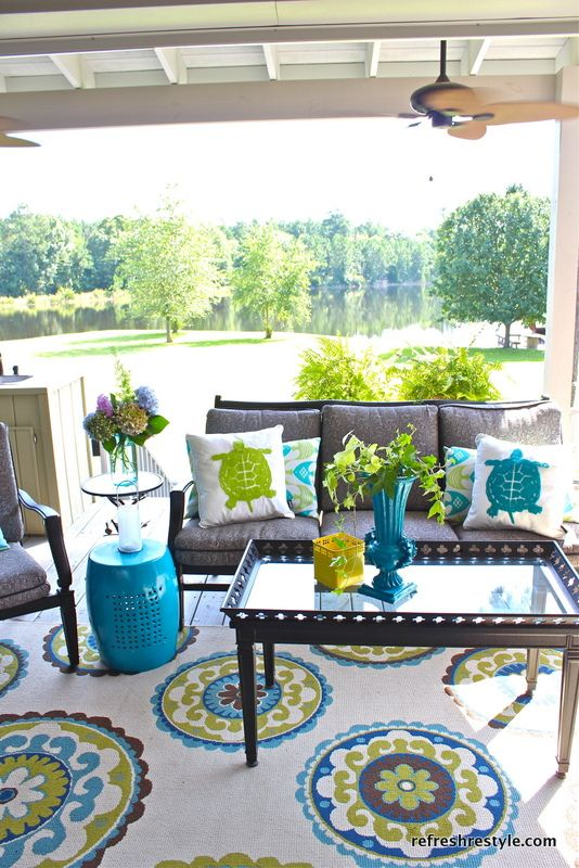 colorful outdoor decor