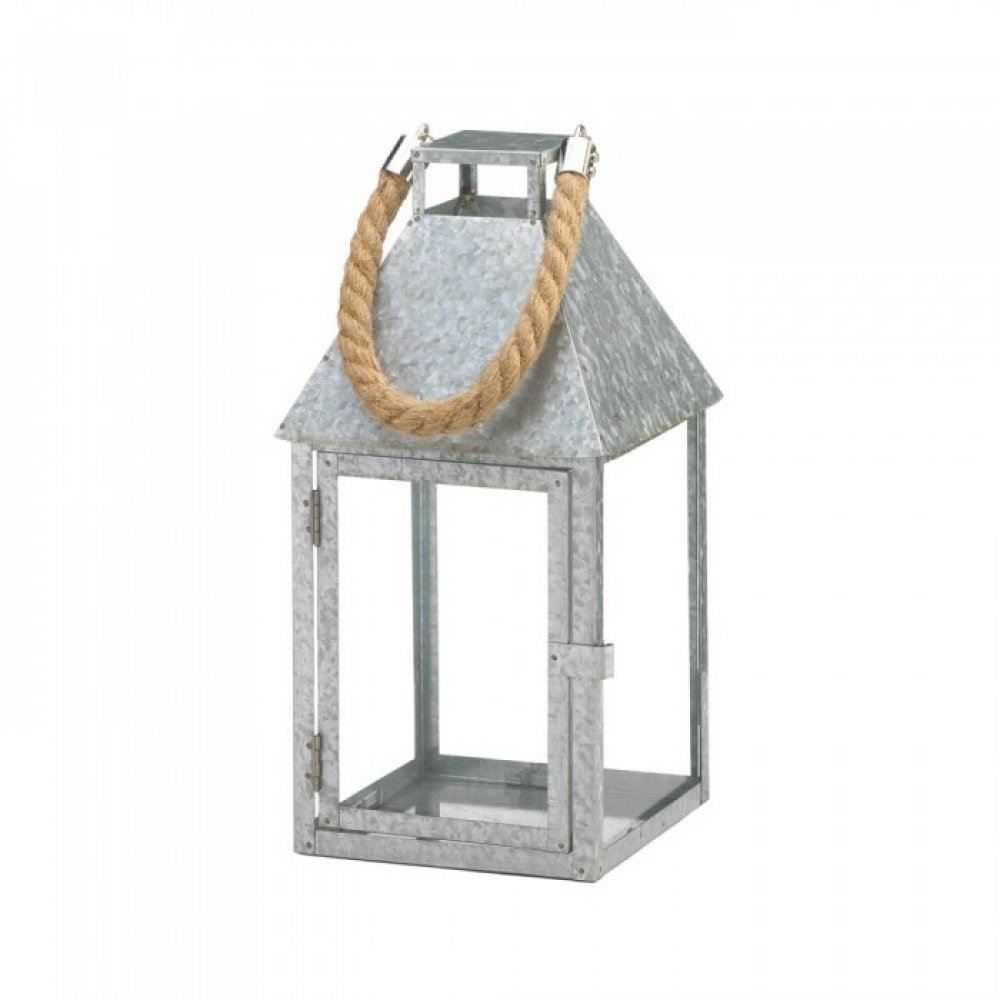 galvanized metal house lantern - 1000×1000