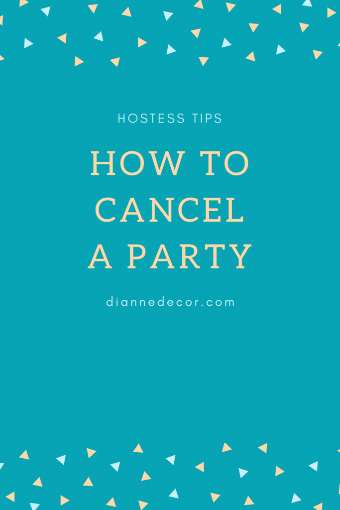 How to Cancel a party