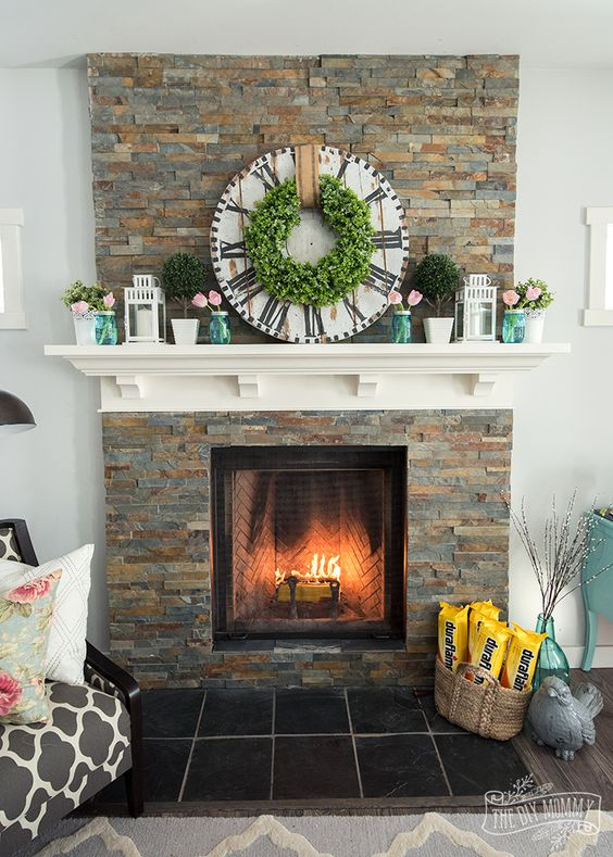 10 Ideas for a Lovely Spring Mantel