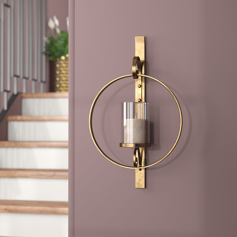 """22"""" Glass Wall Sconce"""