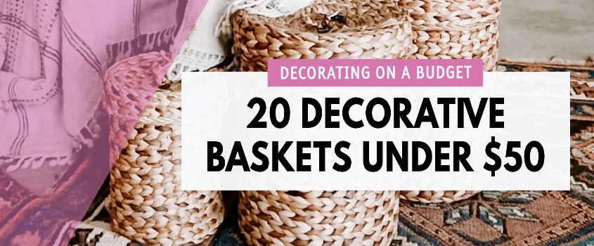 decorative baskets for the home