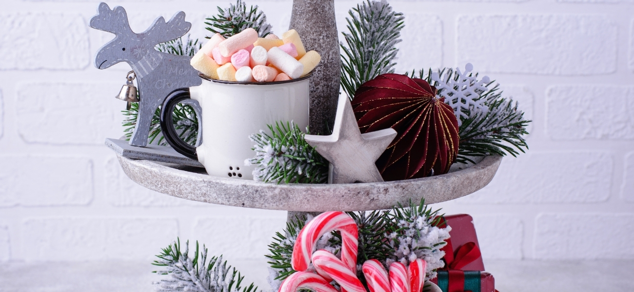 22 Holiday Tiered Tray Decor Displays You'll Love