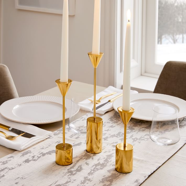 home decor gifts - Hammond Candlelight, Taper Holder, Polished Brass
