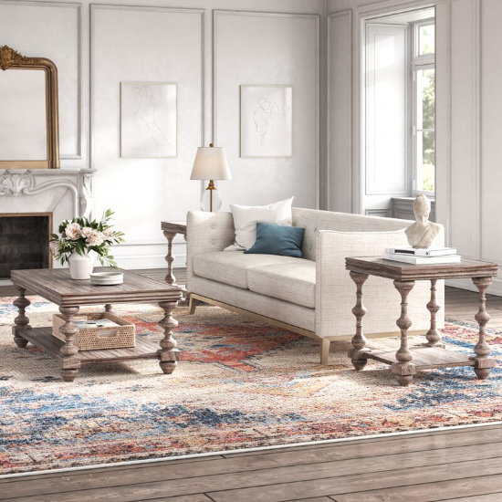 Audio Upholstery 3 Piece Coffee Table Set