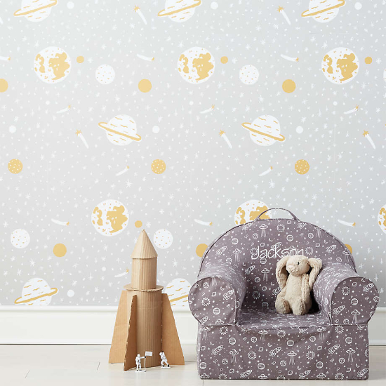 Chasing Paper Grey Space Odyssey Removable Wallpaper