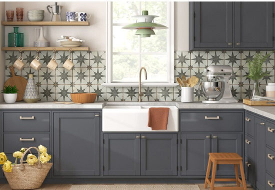 """Royalty 18"""" x 18"""" Ceramic Patterned Wall & Floor Tile"""