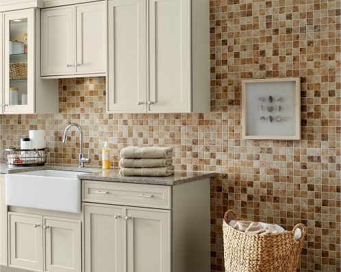 Rio Mesa Desert Sand 12 in. x 12 in. x 6 mm Ceramic Mosaic Floor and Wall Tile
