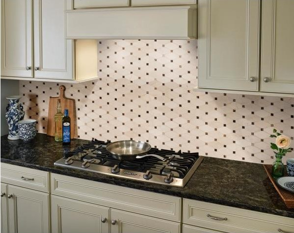 Valencia Blend Elongated Octagon 12 in. x 12 in. x 10 mm Polished Marble Mesh-Mounted Mosaic Tile