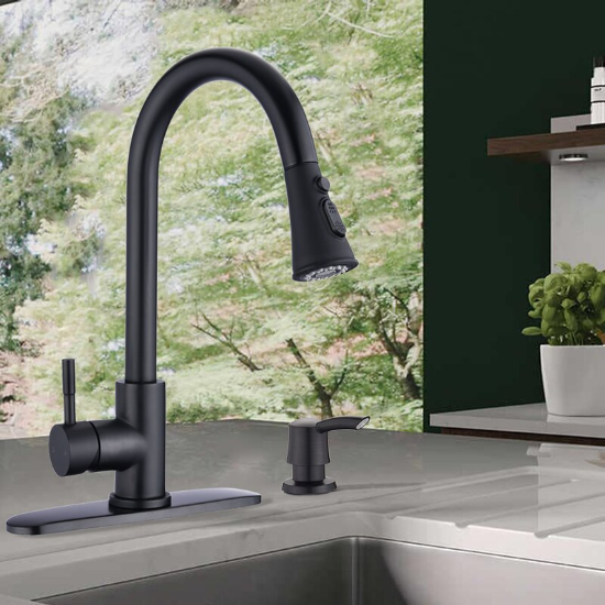 Kirtley Pull Down Single Handle Kitchen Faucet