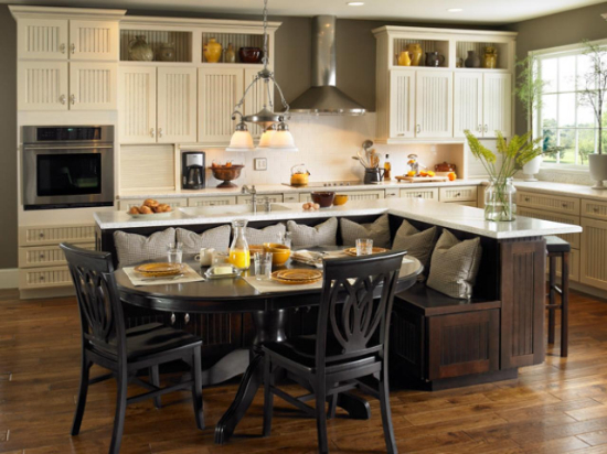 kitchen innovations - kitchen island with bench seating