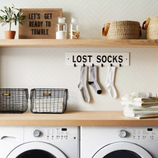 'Lost Socks' Wall Sign White/Black - Hearth & Hand™ with Magnolia