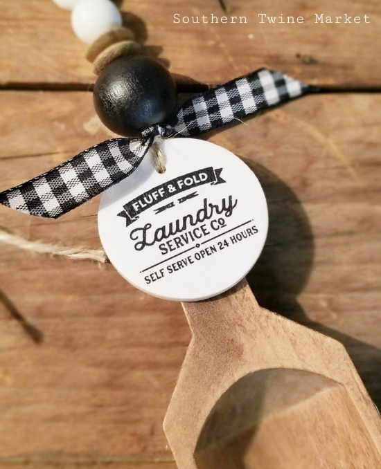 Laundry Accessories -Laundry Scoop, Buffalo Check