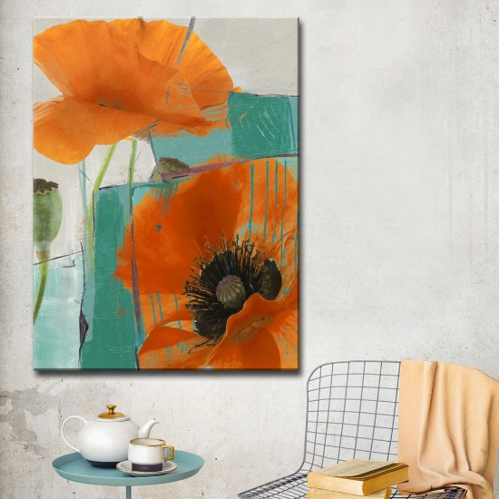 oversized wall art - Ready2HangArt 'Painted Petals XXXIII' Floral Canvas Wall Art