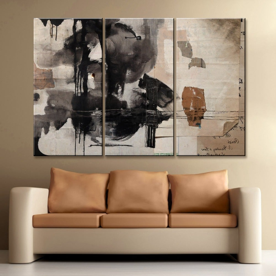 "'Inkd XXIX' 3-Piece Wrapped Canvas Wall Art Set - (3) 20"" W x 40"" H"