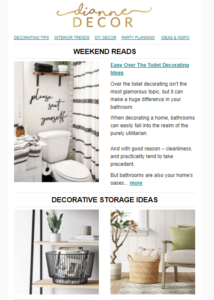 Easy Over The Toilet Decorating Ideas + Furniture Deals Under $150