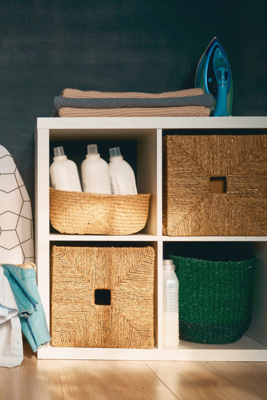 how to organize laundry detergent