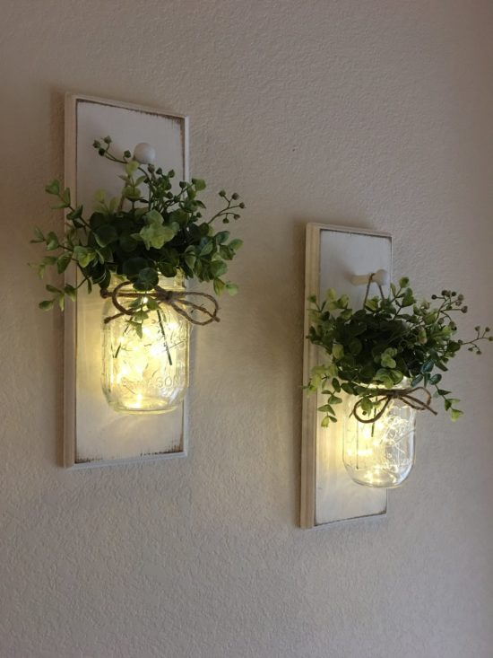 rustic chic wall sconce