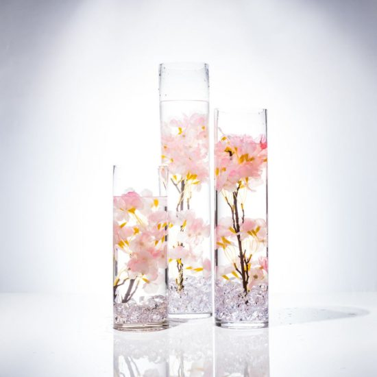 flowers submerged in vase