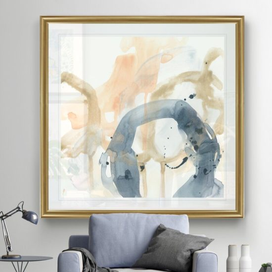 decorate a living room with canvas wall art