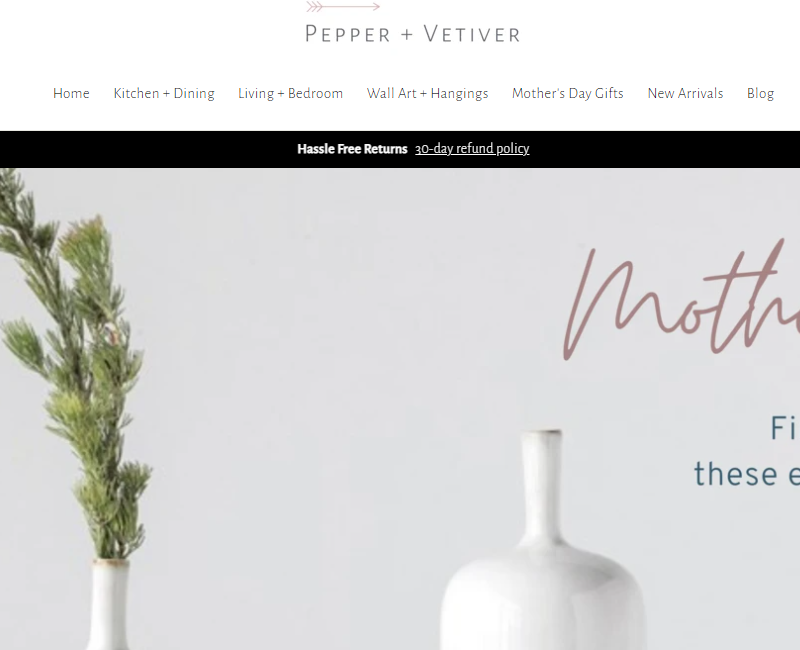 Pepper and Vetiver - cheap home decor stores