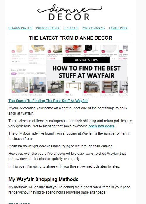 The Secret To Finding The Best Stuff At Wayfair