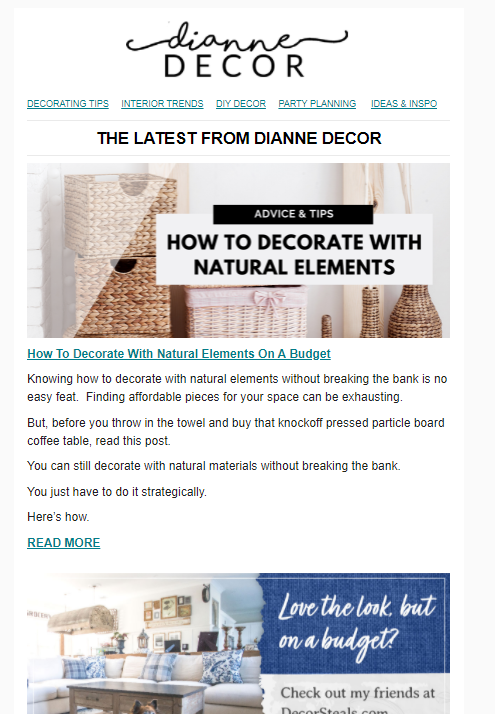 How To Decorate With Natural Elements