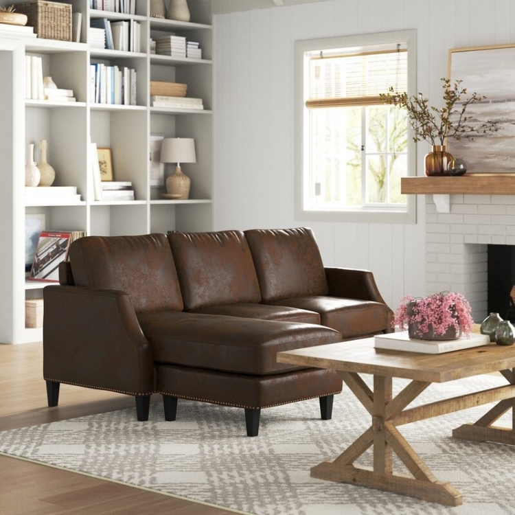 """Sand & Stable Braxton 77.5"""" Wide Reversible Sofa & Chaise"""