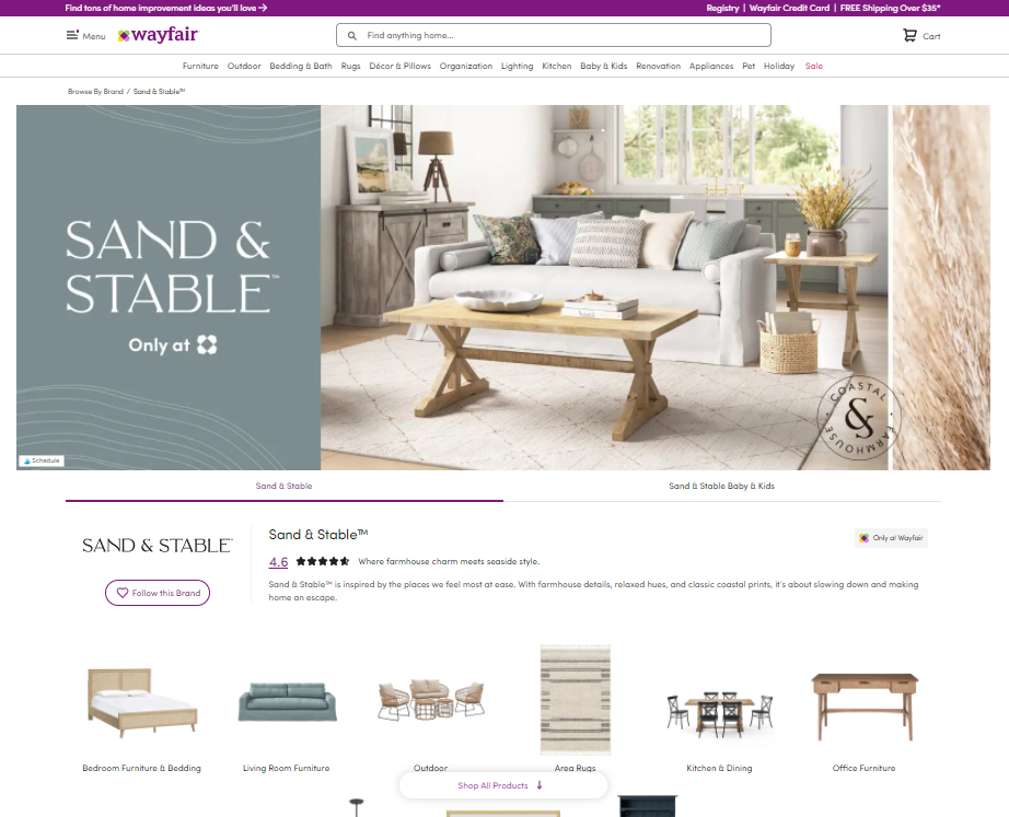 Sand and Stable Only at Wayfair